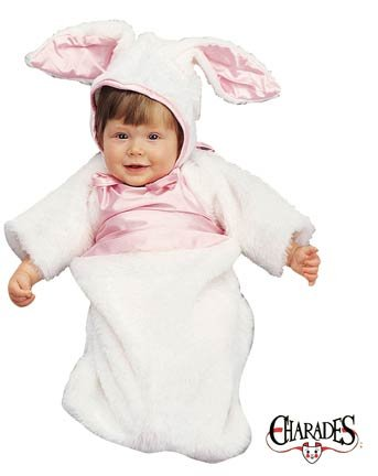 Plush Bunny Bunting Infant Newborn Baby Costume