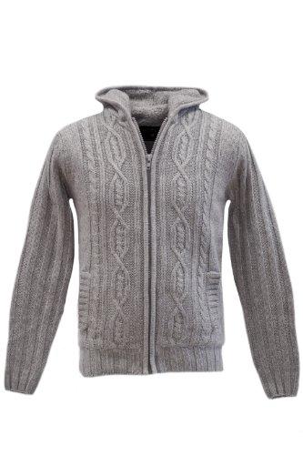 Blend of America Knit wear Cardigan Lana,, calda fodera, 2colori Grau L