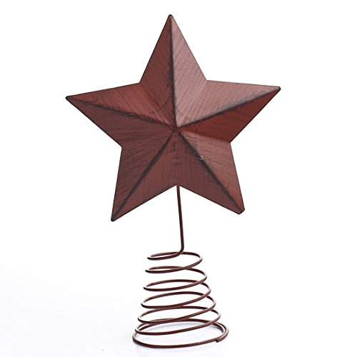 Primitive Red Metal Barn Star Tree Topper