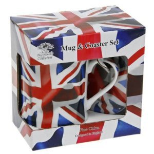 British Union Jack Mug and Coaster Set