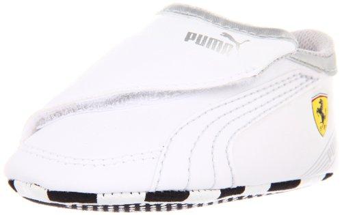 Puma Future Cat M2 SF Crib Sneaker (Infant/Toddler),White/White/Puma Silver,5 M US Toddler