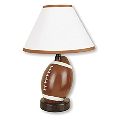 Ore International 604SC Ceramic Soccer Ball Table Lamp