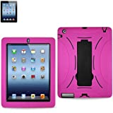 HEAVY DUTY HYBRID CASE FOR IPAD3 FITTING CASE TWO PIECE FOR EXTRA PROTECTION ONE HARD PLASTIC INSIDE ONE OUTER SILICONE FOR COMFORTABLE TOUCH FEELING AND BETTER GRIP. (PINK)