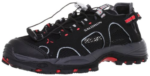 Salomon - Techamphibian 3, Sandali Sportivi da donna, grigio (black/dark cloud/papaya-b), 39 1/3
