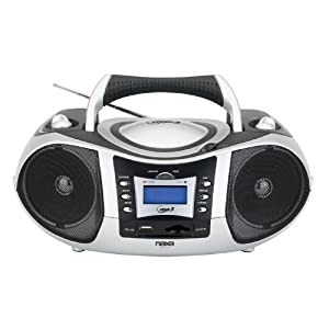 Naxa Portable MP3/CD Player with Text Display, AM/FM Stereo, USB/SD/MMC Inputs