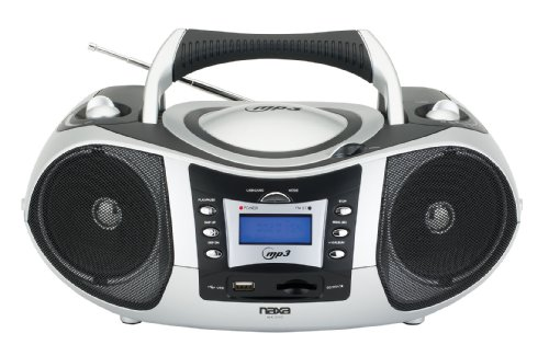 NAXA Electronics Portable MP3/CD Player with Text Display, AM/FM Stereo, USB/SD/MMC Inputs