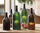 "Napa Style ""Big Bottle"" 12"" h. Amber Green Bordolese, 3L"