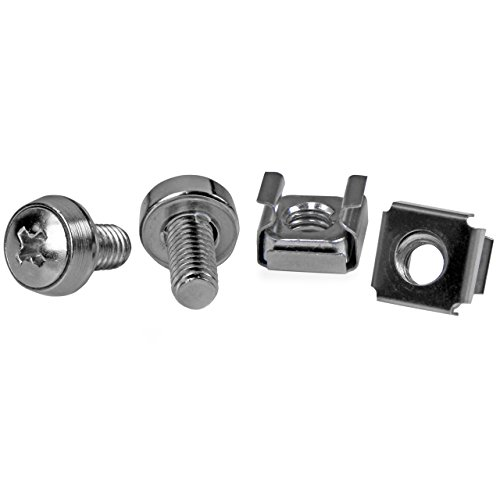 StarTech.com 50 Pkg M6 Mounting Screws and Cage Nuts for Server Rack Cabinet CABSCREWM6