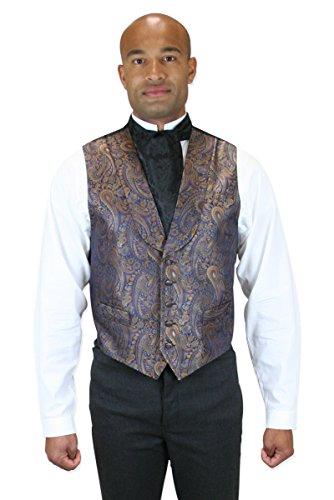 Historical-Emporium-Mens-Paisley-Lombard-100-Silk-Dress-Vest