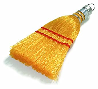 "Carlisle 3663400 Synthetic Corn Whisk Broom, 9"" Head Width, 3"" Overall Length, Straw (Case of 12)"