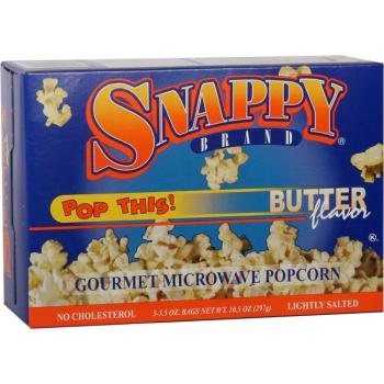 12/3 Pack Snappy Butter Popcorn - Microwave [36 Pieces] *** Product Description: Packaged 12 Per Box 3 Boxes Per Case For A Total Of 36 Popcorn Bags. 12/3 Packs Per Case - Snappy Butter Microwave Popcorn Great Buttery Flavor! ***