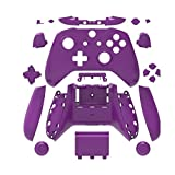 Canamite Replacement Parts Full Housing Shell Protective Case Cover Button Kit for Xbox ONE Slim Controller (Purple) (Color: Purple)
