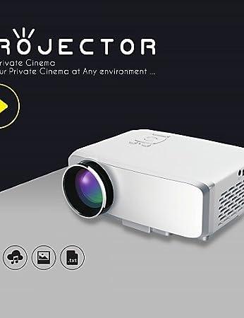 vivibright® emp micro portable conduit gp9s de projecteur, à 800/640 * 480pixels, vidéo 1080p dynamique / 4k se prête au jeu , eu
