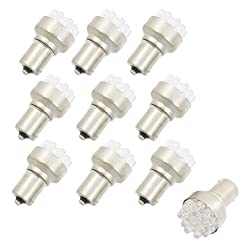 See Water & Wood 10 Pcs BA15S 1156 Yellow 12 LEDs Auto Car Indicator Front Turn Light Lamp with Car Cleaning Cloth Details