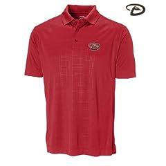 Arizona Diamondbacks Mens DryTec Sullivan Embossed Polo Shirt Cardinal Red by Cutter & Buck