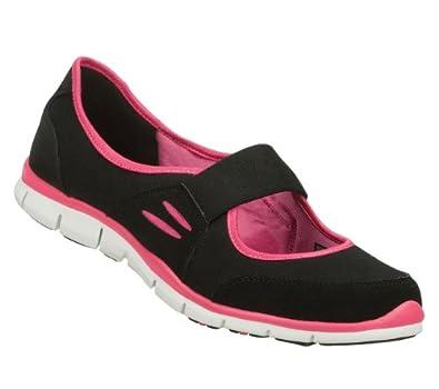 Amazon.com: Skechers Gratis Asana Womens Mary Jane Sneakers Black/Hot