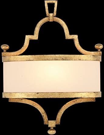 Fine Art Lamps 421250, Portobello Road Glass Wall Sconce Lighting, 1 Light, 60 Total Watts, Gold