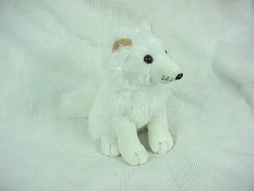 "Arctic Fox Plush Toy 10"" High - 1"