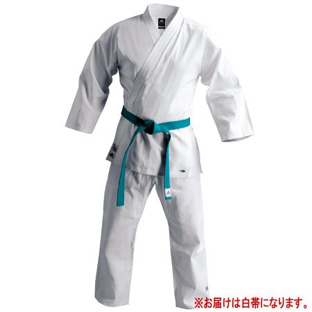 Adidas ( adidas ) traditional karate clothing training up and down set, with a white belt [stock unless special price! ] (140 size)