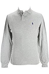 Ralph Lauren A12KL814 Grey Polo Rugby Men's Casual Shirt, S