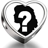 925 Sterling Silver Charms Beads add your own photo custom Heart Photo Charm Beads Fit Pandora Chamilia Biagi beads Charms Bracelet