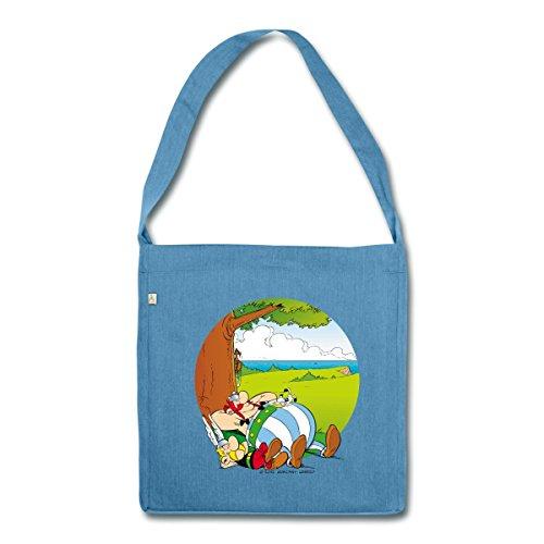 asterix-obelix-font-une-sieste-sac-bandouliere-100-recycle-de-spreadshirtr-bleu-chine