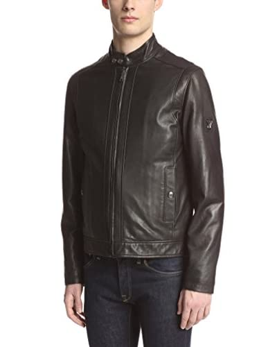 Versace Jeans Men's Leather Racer Jacket