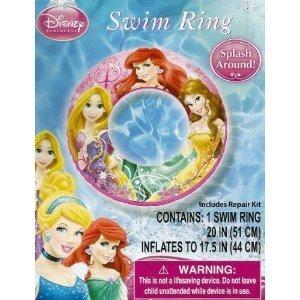 "Disney Princess Ariel, Belle, & Rapunzel Swimming Pool 20"" Swim Ring - 1"