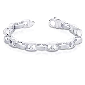 Peora Valentine 316L Stainless Steel Men Classic Anchor Link Bracelet with Lobster Clasp (PSB834) available at Amazon for Rs.1450
