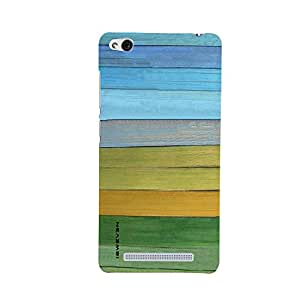 iSweven Red3s_1327 Printed high Quality Green_Yellow_and_Blue_Wood Design Back case cover for Xiaomi Redmi 3s