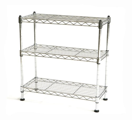 Seville Classics 3 Shelf Cabinet Organizer, 17.5 by 7.5 by 18.5-Inch, Steel Wire (Steel Freestanding Shelving compare prices)