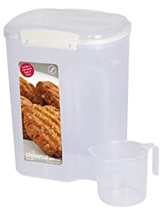 Sistema Klip It Bakery Container with Scoop, 3.25 Litre
