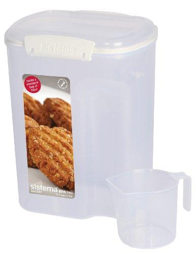 Klip It 1250 Bakery Storage With Measure Cup