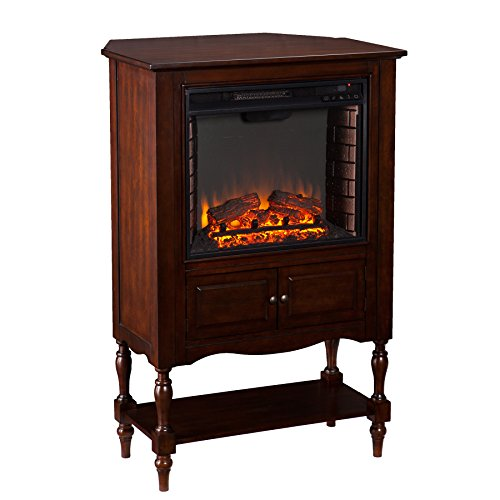 Southern Enterprises Plymouth Fireplace Tower, Mahogany