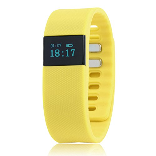 Yellow Bluetooth Smartband Smart Watch Wristband Wrist Band Wrap with Pedometer for Android IOS