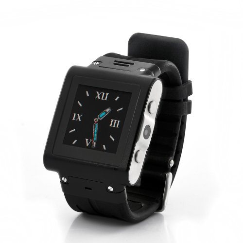 "Mobile Phone Watch ""Trix"" - Waterproof, Stainless Steel, Quad Band"