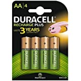 2 X Duracell - Pile Rechargeable - 1300 mAh - AA x 4 - Stay Charged (LR6)