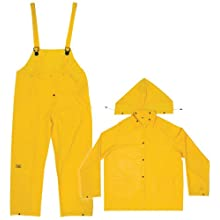 CLC Rain Wear R1102X .20 MM Yellow 3-Piece Rain Suit, 2XLarge