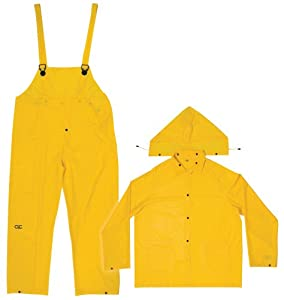 CLC Rain Wear R110X .20 MM Yellow 3-Piece Rain Suit, XLarge