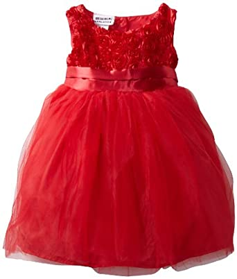 Blueberi Boulevard Baby-Girls Infant Roxy Dress, Red, 24 Months