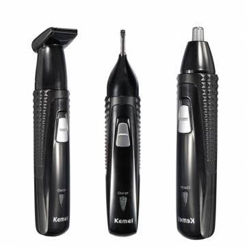 KEMEI 3 in 1 Electric Rechargeable Nose Hair Ear Trimmer Shaver Removal by Completestore (Sonic 2 Ear Plugs compare prices)