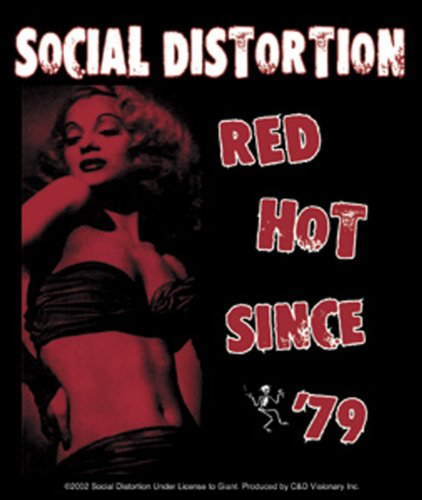 Licenses Products Social Distortion Red Hot Sticker