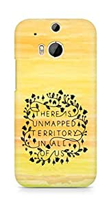 AMEZ there is unmapped territory in all of us Back Cover For HTC One M8