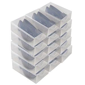15 boites chaussure homme femme transparente dynasun - Maison en boite a chaussure ...