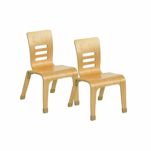 """Ecr4Kids Bentwood Chair, 14"""", Natural, 2-Pack front-875953"""