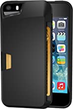 iPhone 5s Wallet Case - Vault Slim Wallet for iPhone 5/5s by Silk - Ultra Slim Protective Wallet Cover (Midnight Black)