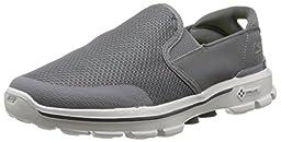 Skechers Performance Men\'s Go Walk 3 Charge Walking Shoe, Charcoal, 9.5 M US