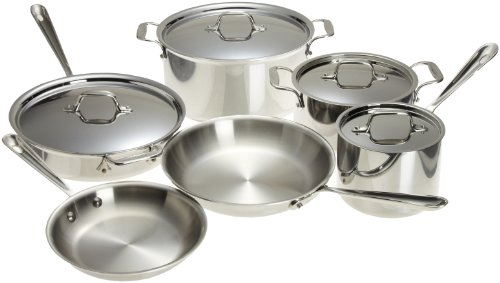 All-Clad Stainless Steel Cookware Set, 10-Piece