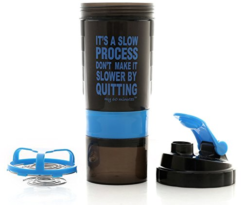 My 60 Minutes Blue Gym Shaker Bottle 500ml (MM-S3-A20)