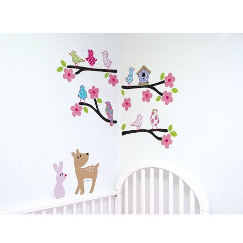 Luvable Friends Nature Theme Wall Decals, Girl - 1